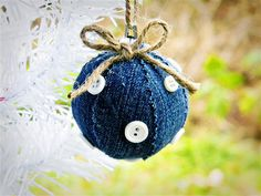 Jean Ball Ornament - These would also be pretty using quilt pieces or pieces of silk or satin.