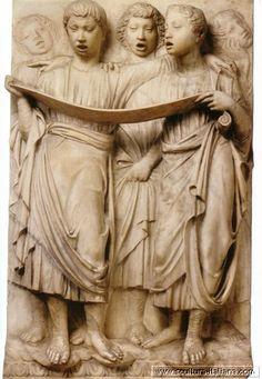 Cantoria. Museo dell'Opera del Duomo, Florence. Luca della Robbia (Florença, 1400-1482).