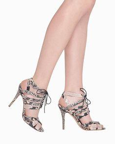 Elizabeth Snakeskin Heel