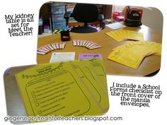 I love the idea of giving the parents an envelope with a checklist on the front for beginning of year forms!
