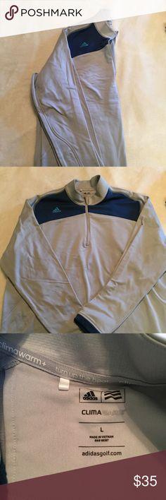 Men's adidas fleece quarter zip Men's adidas fleece quarter zip. Climawarm. Worn once/twice. Perfect condition. Adidas Shirts Sweatshirts & Hoodies