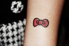 Hello kitty bow tattoo *-*