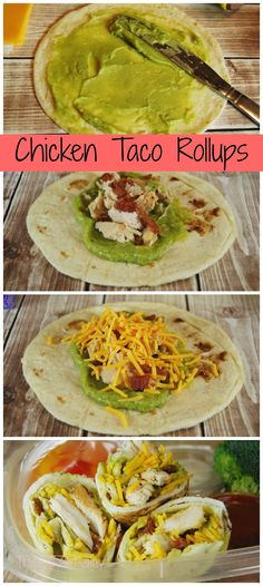 have our own version of the chicken wrap Chicken Taco Roll Ups