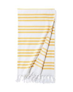 Pinstriped Fouta Beach Towel  Great style, fun colors  this is your new go-to beach towel. Whether lounging poolside or hitting the sands, a striped towel offers a classic vibe no matter where you claim your spot. A fabulous addition to our Fouta Collection, it features a double-Jacquard weave so the stripes are equally beautiful on both sides of the material. Generously sized for lounging (and sunsets, and picnics).100% Turkish cotton.Double-Jacquard weave.300-gram weight.Machine wa..