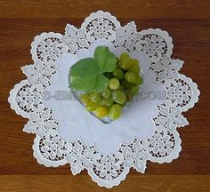 S-Embroidery.  Machine embroidery. 10481 Free- standing lace grapes border design. $12.50, US.