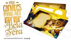 Convite A Bela e a Fera 17 Modelos Gratuitos para Imprimir