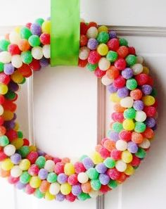 DIY ~ Gummy Gum Drop Wreath ~ Very easy & lasts for years!