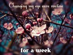 I changed my eye care routine for a week and this is what happened