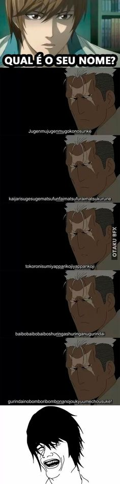Desisto desse cara kkk meme anime meme otaku meme death note tirinhas