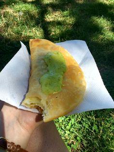 Chilean Empanada from a street vendor at Parque o'Higgins in Santiago de Chile - Global Introvert