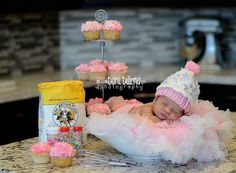 Newborn Cupcake Hat by MadhatterknitsCo on Etsy, $22.00