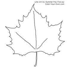 Free coloring pages of canadian maple leaf