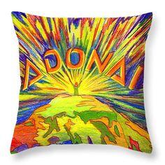 """Adonai Throw Pillow 26"""" x 26"""""""