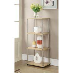 Convenience Concepts Designs2Go 4 Tier Tower Natural