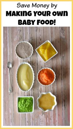 Baby food can be expensive. To save money, you should be making your own baby food! Here are the recipes for a variety of easy and delicious baby foods!
