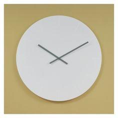 LEWIS White metal wall clock | Buy now at Habitat UK