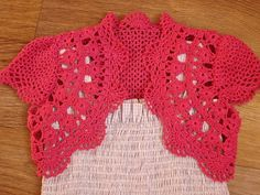 Crafts for summer: cute crocheted bolero, kids craft ideas ~ Craft , handmade blog