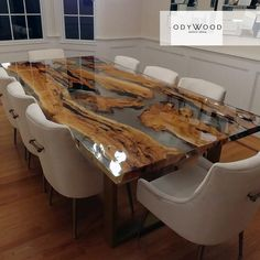 Olive wood epoxy resin dining table custom made Etsy - Sigi - Wood Table Design, Dining Table Design, Dining Room Table, Kitchen Dining, Diy Resin Table, Epoxy Wood Table, Diy Table, Home Interior Design, Interior Decorating