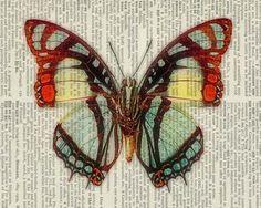 14 декупажных карт с бабочками ...