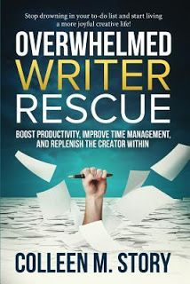 Overwhelmed Writer Rescue    Overwhelmed Writer Rescue  by Colleen M. Story  Book: Stand Alone  Publisher: Mid Channel Press  Pub Date: August 2017  Genre: For anyone  Format: ARC  Source: Publisher  Book Links:GoodreadsAmazon  Find the time energy and confidence you need to make your creative dreams come true!  Do you feel like you're always behind? Do less important tasks frequently flood your schedule and sink your creative motivation? Are you frustrated and out of touch with your inner…