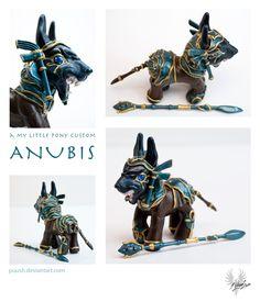 ANUBIS a my little pony custom by puush.deviantart.com on @deviantART