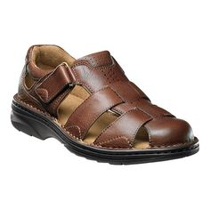 Getaway Fisherman Sandal The Florsheim Getaway Fisherman Sandal is a closed toe sandal with a fully padded collar and Opanka construction which makes wearing a pleasure. This sandal is the ideal complement to your warm weather attire. Leather Men, Brown Leather, Velcro Shoes, Running Fashion, Apple Watch Bands, Buy Shoes, Comfortable Shoes, Shoes Online, Leather Sandals