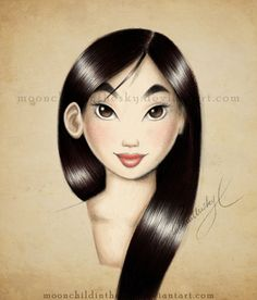 "Walt Disney Fan Art of Fa Mulan from ""Mulan"" 36183305 Walt Disney, Disney Magic, Disney And Dreamworks, Disney Pixar, Princesa Mulan, Disney Movies, Disney Characters, Pinturas Disney, Disney Kunst"