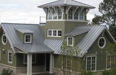 Homes with silver metal roofs | Metal Roofing Garden, Michigan