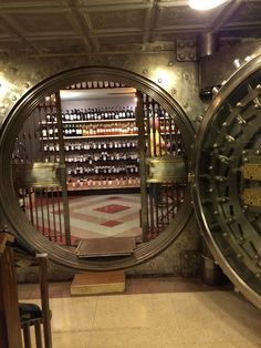Wine cellar, made in an old bank vault