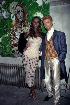 Iman with David Bowie - one of the greatest romances ever.