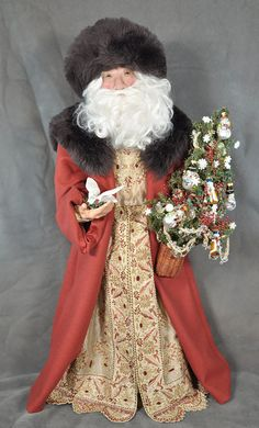 Santa Claus Dolls » Blog Archive » Santa in Merino Wool by Cynthia