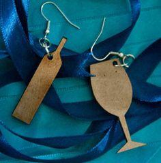 Etsy Find: Wine Glass And Wine Bottle Earrings - Foodista.com