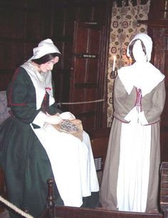 Lady of House and Servant. Picture taken at Cromwell House Museum. puritan fashions