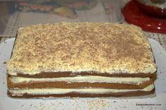 Prajitura Morena (reteta de pe Lily's cakes) Romanian Desserts, Jacque Pepin, Chocolate Desserts, Cake Recipes, Caramel, Sweet Treats, Deserts, Food And Drink, Sweets