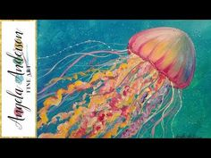 Jellyfish Acrylic Painting Tutorial Ocean Sea Life LIVE Beginner Lesson - YouTube