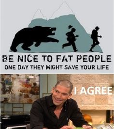 Walking dead.Be nice to fat people like Otis so you can live like Shane...(better people??)