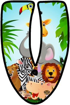 """Képtalálat a következőre: """"party safari"""" Jungle Party, Safari Party, Jungle Theme Classroom, Classroom Themes, Safari Theme Birthday, Scrapbook Letters, Cute Letters, Alphabet And Numbers, Jungle Animals"""