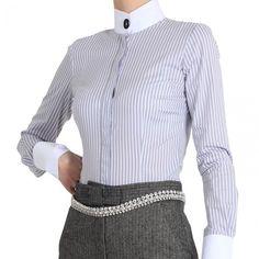 Varsavia luxury business shirt £65 http://www.pinstripeandpearls.com/product/manifattura-donna-varsavia-shirt