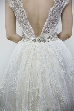Love the back on this gown! [more at pinterest.com/azizashopping]