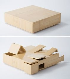 MAKE | Plywood Table is All Secret Compartment this is brilliant!