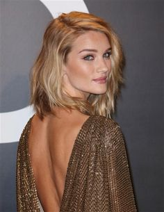 Model Rosie Huntington-Whiteley went from a trendy lob to an even trendier bob in February, cutting it shorter and rocking it at a Tom Ford fashion show in Los Angeles.