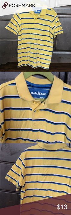 48a6af66e026e9 👕Yellow blue striped boys polo shirt 👕 Neat school shirt or beginning  starter kit to