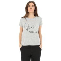 T-shirt con messaggio ricamato - Collezione T-SHIRT - Pimkie Italia