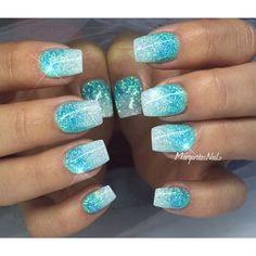 Glitter Ombré Nails summer design