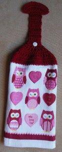 crochet hanging towel - complete Grandma used to always make these Crochet Towel Holders, Crochet Dish Towels, Crochet Towel Topper, Crochet Kitchen Towels, Crochet Dishcloths, Crochet Fish, Filet Crochet, Irish Crochet, Easy Crochet