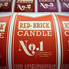 Getting the holiday scents on with these beautifully designed custom candle labels by @redbrickcandle #redbrickcandle #rbcloft #rbcbehindthescenes #makelabels #weloveourcustomers
