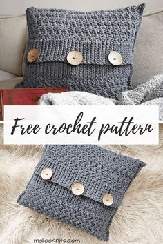 Easy Crochet Afghans Easy, quick and free crochet pillow pattern. Make this decorative crochet pillow in just an afternoon or two. Crochet Afghans, Crochet Pillow Patterns Free, Diy Crochet, Crochet Blankets, Afghan Patterns, Crochet Ideas, Free Pattern, Graph Crochet, Modern Crochet Patterns