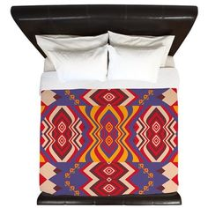 Tribal King Duvet Cover  Mix 93  Ornaart Design by Ornaart on Etsy