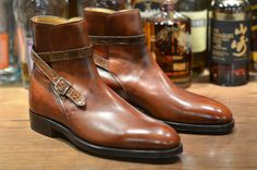 John Lobb Jodhpur boots with a leather strap from Leather Soul - useful for crushing your enemies, driving them before you, and hearing the lamentations of their women.