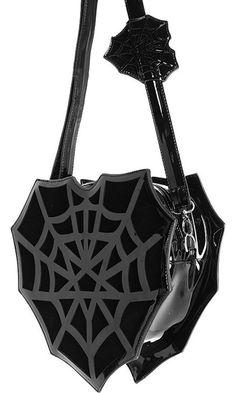 Restyle - Spiderweb Heart Bag Kawaii Goth adf576b12bc03